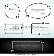 Quotes About Light And Dark Quotation Mark Speech Bubble Blank Template Stock Vector 357046883