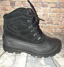 s cold weather boots size 12 sorel s cold mountain boot black leather us size 12 winter ebay