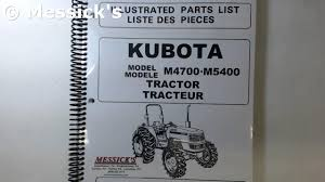 kubota m series parts manuals