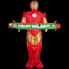 Outdoor Christmas Decorations Home Depot Marvel Christmas Inflatables Outdoor Christmas Decorations