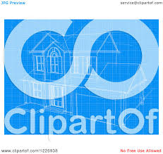 clipart of a house blueprint page royalty free vector