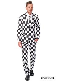 Black And White Checkered Suitmeister Basic Checkered Black And White Suit For Men