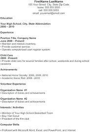free resume templates for high students with no work experience resume templates for high students with no work experience