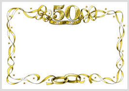 50 year wedding anniversary the pleasure of your company is requested no gifts