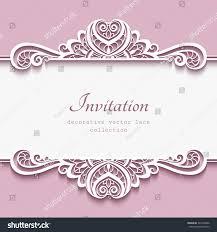 elegant cutout paper frame lace border stock vector 345278060