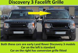 land rover lr3 lifted black silver silver disco 4 facelift style front grille land rover