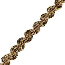 black and gold ribbon braided black gold gimp lace ribbon fabric fancy trim decorated