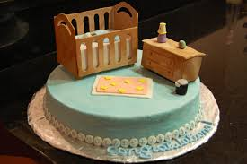 baby in a crib baby shower cake maria u0027s dream cakes