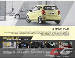 chevrolet spark 2017 chevrolet spark ups small car ante w brochure philippine
