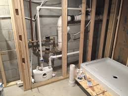 saniflo bathroom with behind wall macerator creative basement