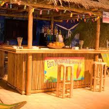 Bamboo Bar Top Handmade Bamboo Tiki Display Concession Hut By Suncoast Tiki Huts