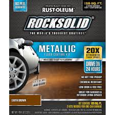 rust oleum epoxyshield 2 gal gray 2 part high gloss epoxy garage