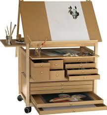 bureau a dessin chevalet de peinture bois et table a dessin meuble atelier d