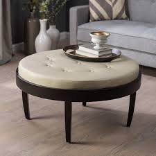 round ottoman storage coffee table magnificent round leather storage ottoman storage