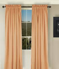 Apricot Color Peach Apricot Long Curtain Set
