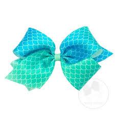 mermaid ribbon king satin mermaid scale bow