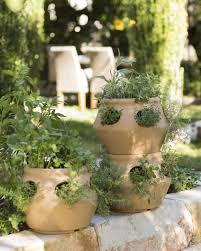 strawberry pot u0026 herb planter terracotta colored polyethylene pot