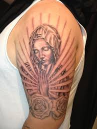 praying virgin mary tattoo stencil pictures to pin on pinterest