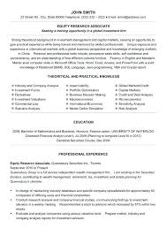 sample of financial analyst resume finance resume examples sample