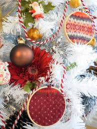 how to make embroidery hoop sweater ornaments hgtv