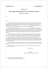 9 application letter for employment as a teacher basic job