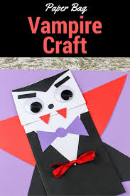 vampire craft for kids easy halloween pre and crafts