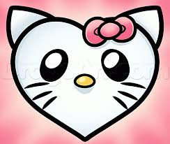 draw kitty heart step step characters pop
