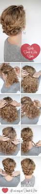 wedding hairstyles step by step instructions hairstyle tutorial easy twist and pin updo for curly hair hair