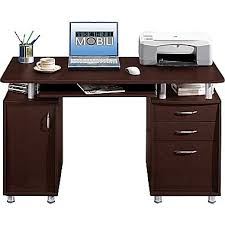 Computer Desk With Filing Cabinet by Techni Mobili Double Pedestal Laminate Computer Desk Chocolate