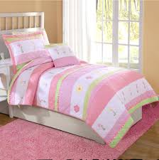 ruffle girls bedding articles with pink and green baby bedding sets tag charming pink