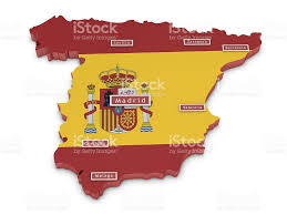 Spain Map Cities by Map Of Spain And Big Cities Stock Photo 480691979 Istock