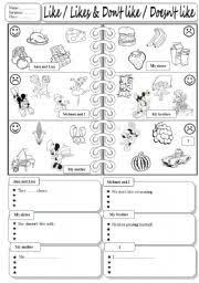 english teaching worksheets food likes and dislikes food