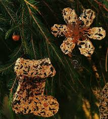 make your own bird seed ornaments birds and blooms