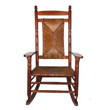 Antique Pressed Back Rocking Chair Oak Rocking Chair With Rush Seat And Back Ebth