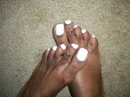 white nail polish and cute toe rings china glaze white o u2026 flickr