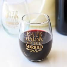 stemless wine glasses wedding favors personalized 9 oz stemless wine glass bachelor