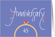 45 wedding anniversary 45th wedding anniversary cards from greeting card universe