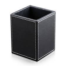 amazon black friday white desk amazon com kingfom pu leather square pens pencils holder desk
