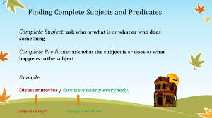 Worksheets On Subjects And Predicates Grammar Station Complete Subject And Complete Predicate Lessons