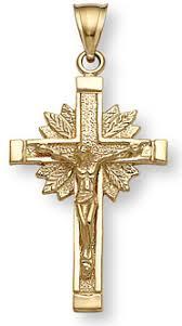 crucifix jewelry 14k yellow gold crucifix pendant