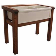 Stand Alone Kitchen Sink by Herbeau Wooden Stand Double 5702 Kitchen Sink From Home U0026 Stone