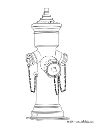 fire hydrant coloring pages hellokids com