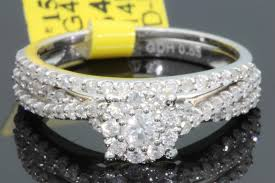 real diamond engagement rings 14k white gold 53 ct women real diamond engagement ring wedding