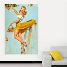 pin up girl home decor classic fashion custom pin up girl home decor poster print canvas