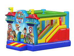 paw patrol jumper with slide channal inflatables