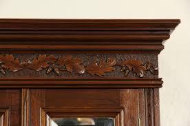 Tall Narrow Secretary Desk by Sold Victorian Eastlake Narrow 1880 Antique Carved Walnut