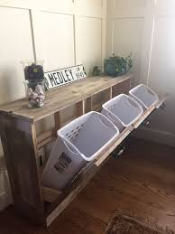 sorting area with 4 bins for hallway laundry room pinterest