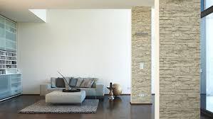 Wohnzimmer Deko Braun 20 Ehrfürchtig Steintapete Braun Beige Wohnzimmer Dekoration Ideen