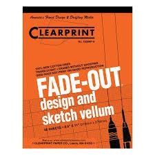 clearprint vellum 1000hp 8 8 5 x 11 50 sheet pad 1000 2410