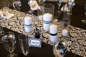 black and white centerpieces inspiration ideas white wedding centerpieces with black and white